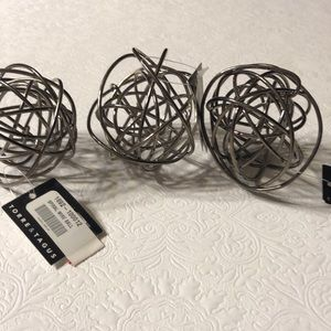 Other - Spiral silver ball. Set of 3.